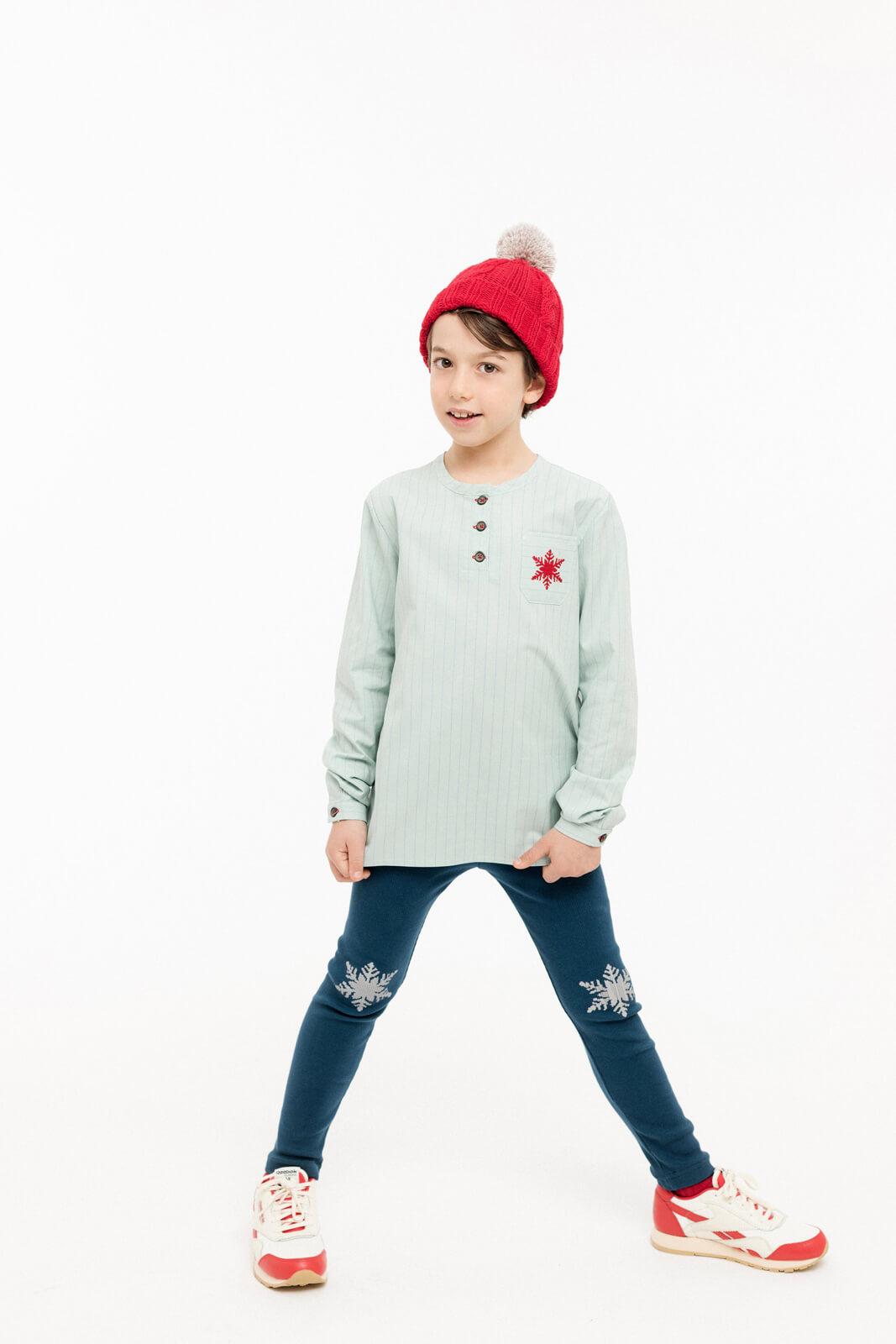 Shirt Mao Snowflake